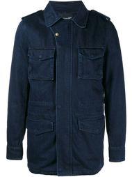 джинсовая куртка с кроличьим мехом Yves Salomon