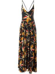 платье с цветочным принтом Bird of Paradise Fendi