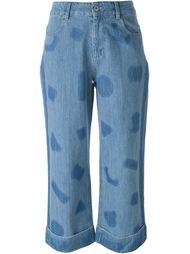 широкие джинсы с принтом  Each X Other
