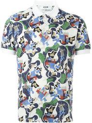 рубашка-поло с абстрактным принтом MSGM