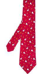 галстук с принтом уток Hermès Vintage
