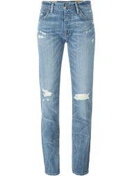 джинсы бойфренд с рваными деталями   Polo Ralph Lauren