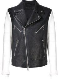байкерская куртка с контрастными рукавами Neil Barrett