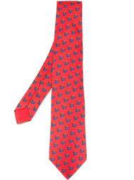 галстук с принтом оленей Hermès Vintage