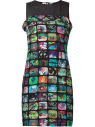 облегающее платье с принтом телеэкранов Jeremy Scott