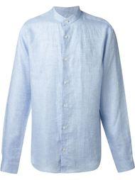 рубашка с воротником-стойкой Z Zegna