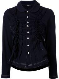 блузка с присборенной отделкой на пуговицах Comme Des Garçons