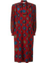 платье с геометрическим принтом Jean Louis Scherrer Vintage