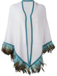 шарф с отделкой из перьев Antonia Zander