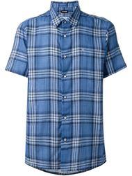 рубашка с короткими рукавами в клетку Raf Simons