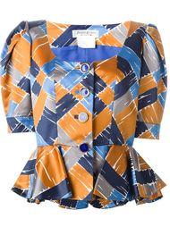 атласный пиджак с баской Yves Saint Laurent Vintage