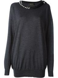 свитер с декорированным воротником Lanvin Vintage