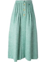 трикотажная юбка на пуговицах Courrèges Vintage