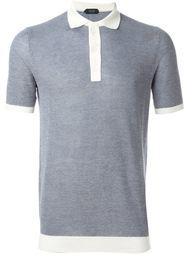 футболка-поло с контрастным воротником Zanone