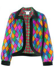 пиджак с геометрическим принтом Yves Saint Laurent Vintage