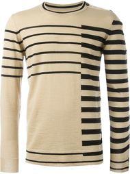 свитер с контрастными полосками   Maison Margiela