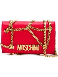 сумка на плечо с цепочной отделкой Moschino