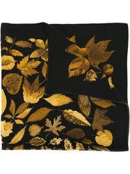 шарф с растительным принтом Hermès Vintage