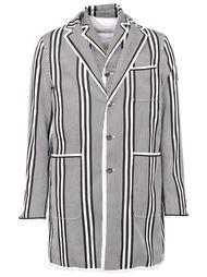 короткое пальто в полоску Moncler Gamme Bleu