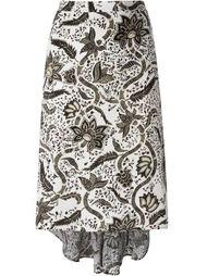 юбка асимметричного кроя с цветочным принтом  Barbara Bui