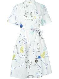платье с принтом рисунков  Ports 1961