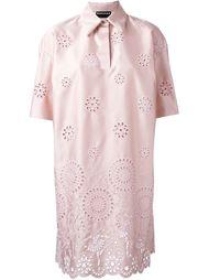 платье шифт с вышивкой  Rochas