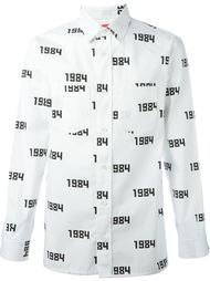 рубашка с принтом '1984'  Gosha Rubchinskiy ГОША РУБЧИНСКИЙ