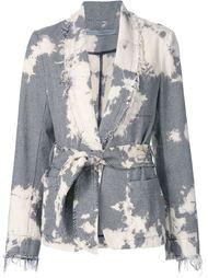 пиджак с запахом и обесцвеченным эффектом Raquel Allegra