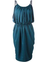 платье с драпированными деталями  Lanvin