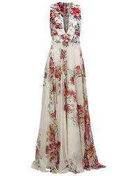 вечернее платье с цветочным принтом Zuhair Murad