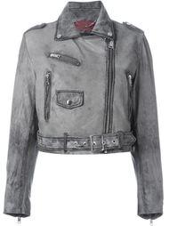 выбеленная байкерская куртка  Diesel
