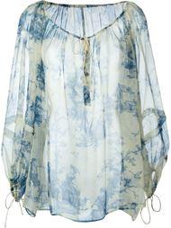блузка с принтом Philosophy Di Lorenzo Serafini