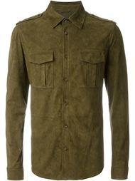 замшевая рубашка в стиле милитари Desa 1972