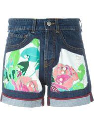 джинсовые шорты с заплатками I'M Isola Marras