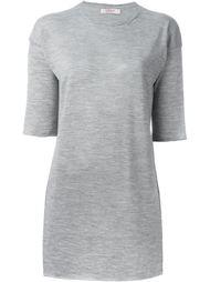 удлиненная трикотажная футболка Liska