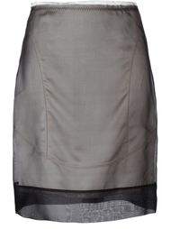 многослойная прозрачная юбка Maison Margiela