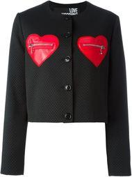 жакет с карманами в форме сердец  Love Moschino