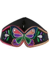 ремень с вышивкой в виде бабочки Manish Arora
