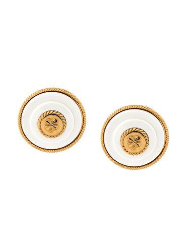 круглые клипсы с логотипом Chanel Vintage