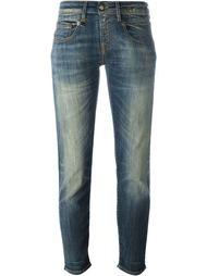 укороченные джинсы кроя слим   R13
