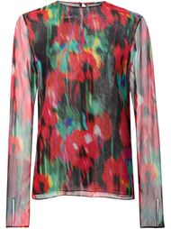блузка с цветочным принтом Jason Wu