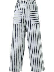 полосатые широкие брюки Agi & Sam