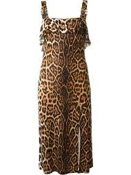 платье с леопардовым принтом Christian Dior Vintage