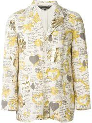 пиджак с графическим принтом Comme Des Garçons Vintage