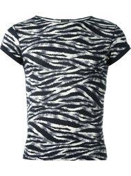 футболка с зебровым узором Jean Paul Gaultier Vintage