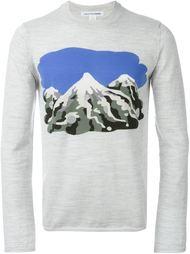 трикотажный свитер с принтом пейзажа Comme Des Garçons Shirt