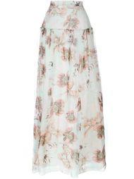 длинная юбка с цветочным принтом Blumarine