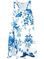 расклешенное платье с цветочным принтом Dondup