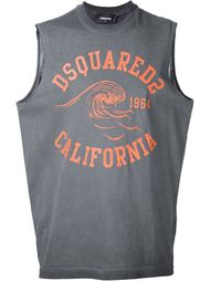 футболка с принтом 'California muscle' Dsquared2