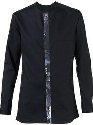 рубашка с контрастной планкой Yohji Yamamoto